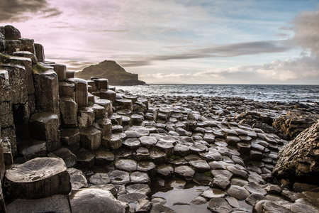 View of The Giants Causeway in Northern Ireland