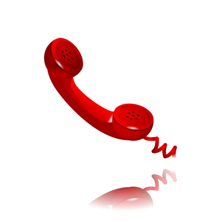 phone receiver as  contact us  icon