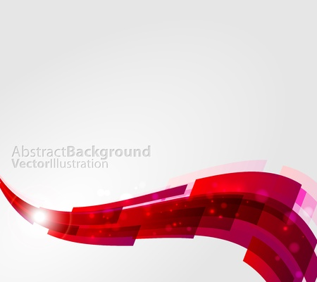 Abstract Red Line Wave Background