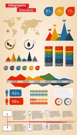 Infographic Elements For Web and Print Usage Vector