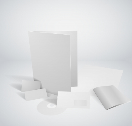3 dimensional Set of corporate identity templates Vector