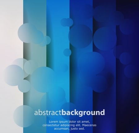 Blue abstract background with wave and bubble effect