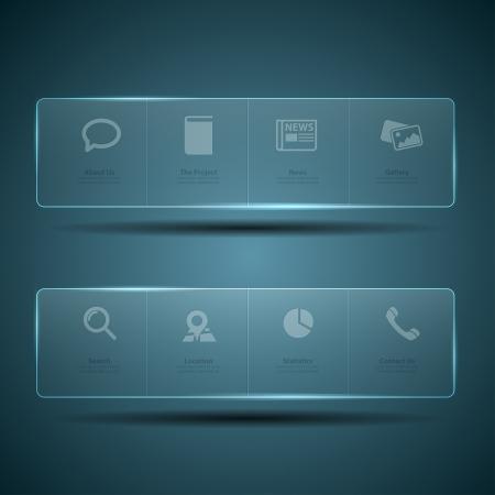 menu button: Web design Menu template