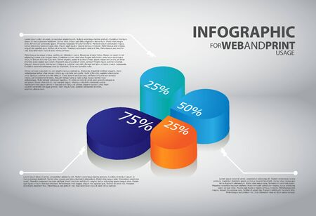 High quality minimalistic business infographic element Vector
