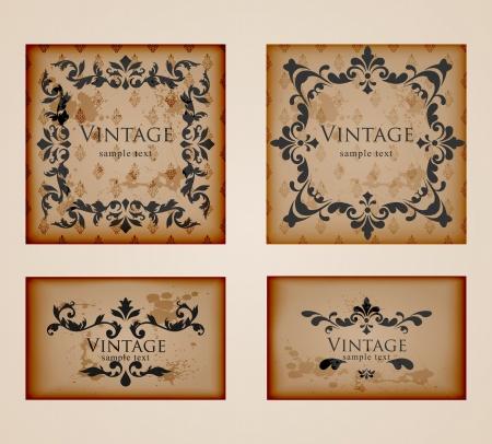 most popular: Vintage floral frames