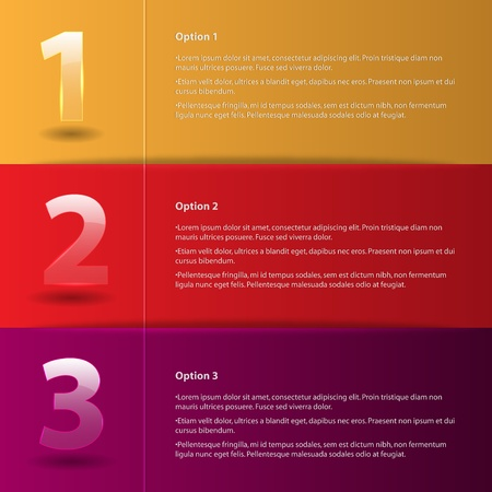 Colored abstract Option Bars Vector