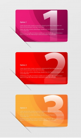 master page: Colored abstract Option Bars Illustration