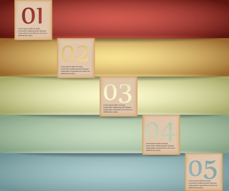advertisment: Colored abstract Option Bars Illustration