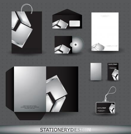 nametag: Stationery design set in vector format Illustration