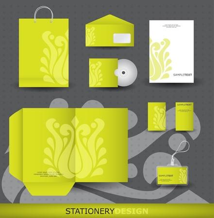 Stationery design set in vector format Vector
