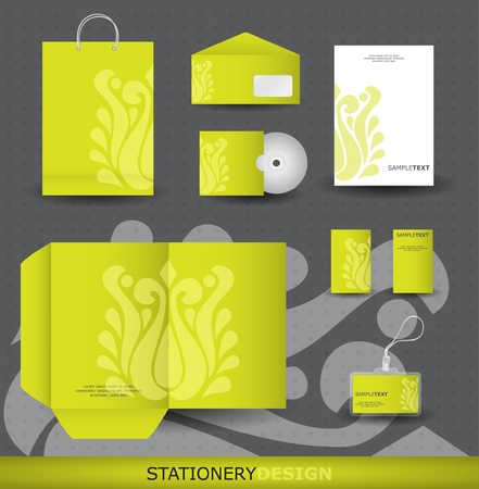 Stationery design set in vector format Vector