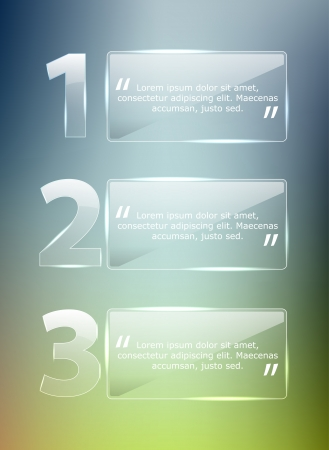 Glass Progress background   product choice or versions Vector