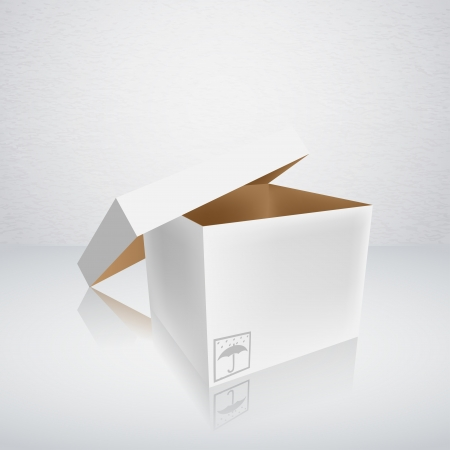 open packing box Vector