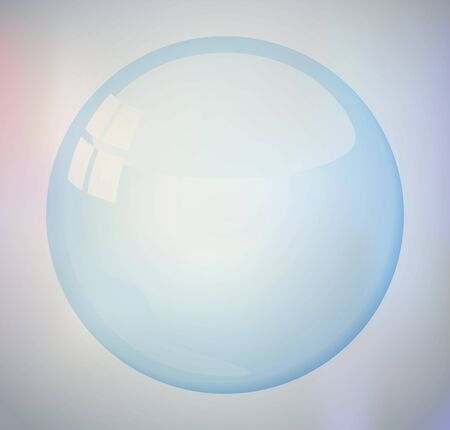 bubble on a colored background Vector