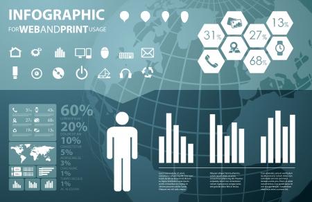 visualize: Di alta qualit� di business infografica elementi