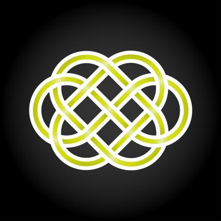 Groen eeuwige knoop begrip Vector Illustratie