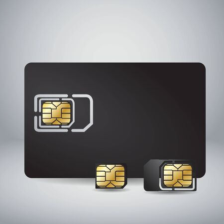 sim card: Sim Card Set Illustration