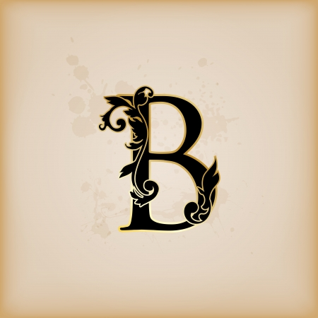 Vintage initials letter B