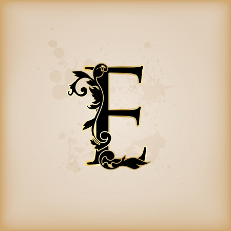 codex: Vintage initials letter e Illustration
