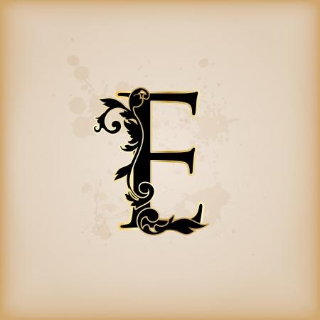 Vintage initials letter e Illustration