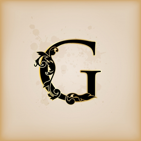 initial: Vintage initials letter g
