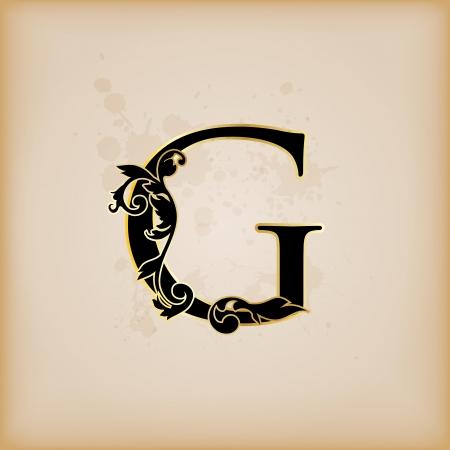 Vintage initials letter g Фото со стока - 15061809