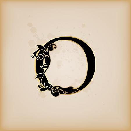 Vintage initials letter o