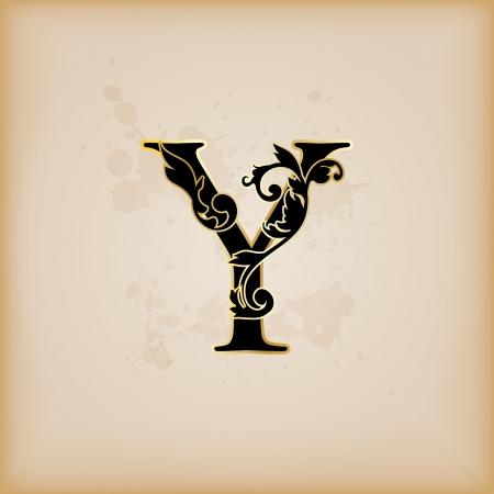 codex: Vintage initials letter y