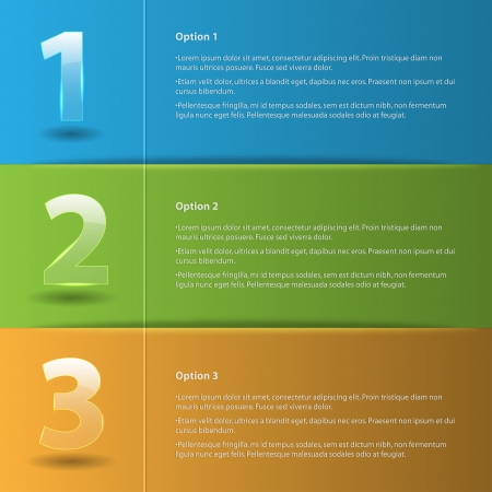 Colored abstract Option Bars Illustration