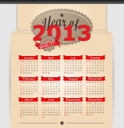 thursday: Retro design calendar for 2013.