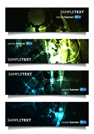 abstract banner set in illustration Vector