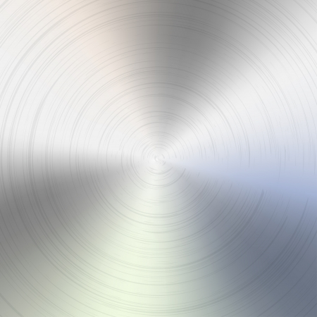 brushed aluminum background: Circular brushed metal texture Illustration