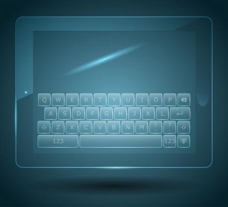 teclado: Teclado virtual para tablet y smartphone Vectores