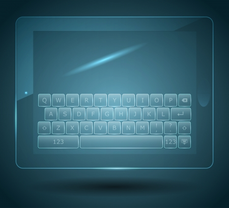 Virtual keyboard for tablet and smartphone