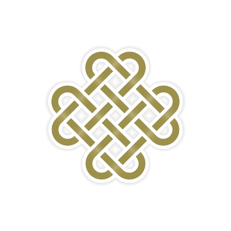 eternal knot concept Vector