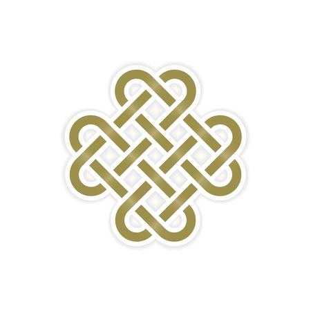 keltische muster: ewigem Knoten Konzept Illustration
