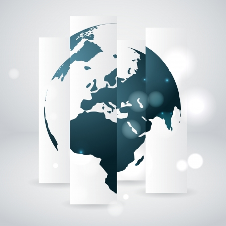 global environment: globe concept