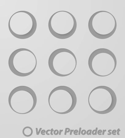 Collection of modern preloaders Stock Vector - 15595554