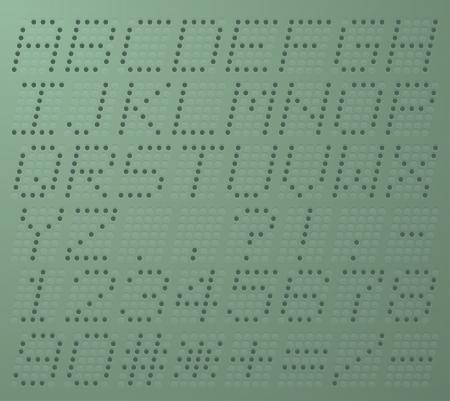 display type: Illustration uppercase alphabet digital LCD indicator