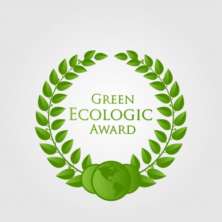 natural ecologic award Vector