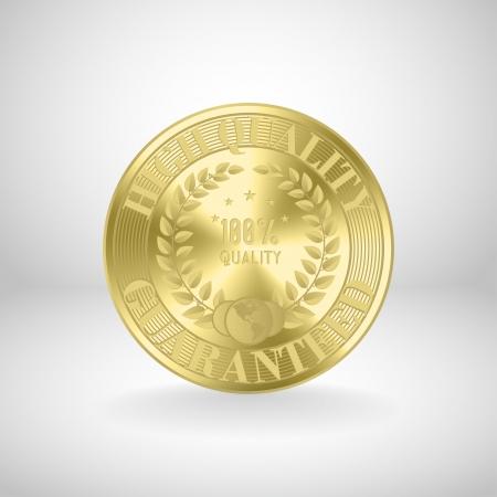 stamper: Golden medal   award coin Illustration