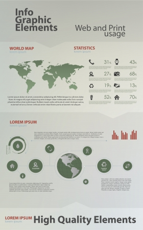 High quality business infographic elements Иллюстрация