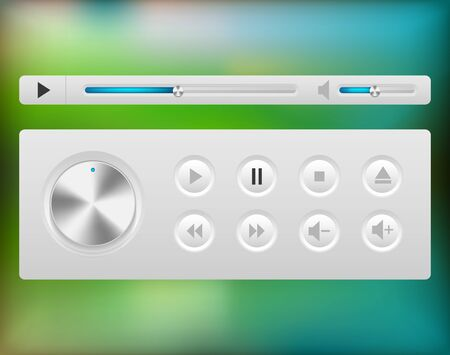 Video player interface. Stock Vector - 16197222