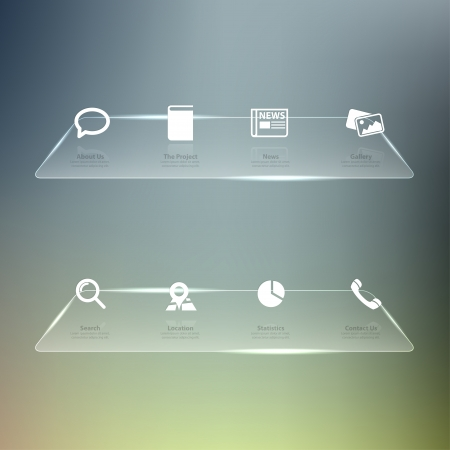 Web design Menu template Vector