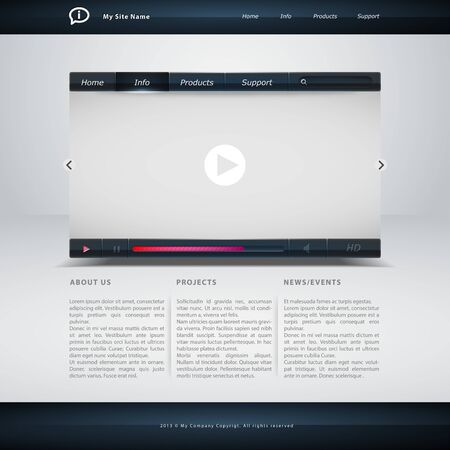 formato: Modelo de site em formato vetorial edit