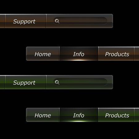 Web design Menu template Stock Vector - 18003708