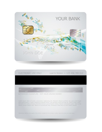 debit card: Credit card design with abstract shapes