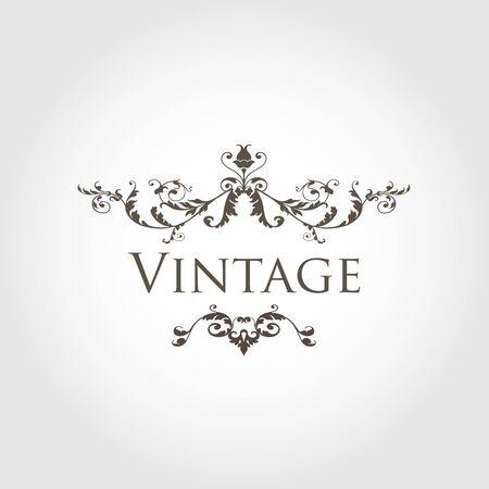 antique frames: Vintage vector floral frame