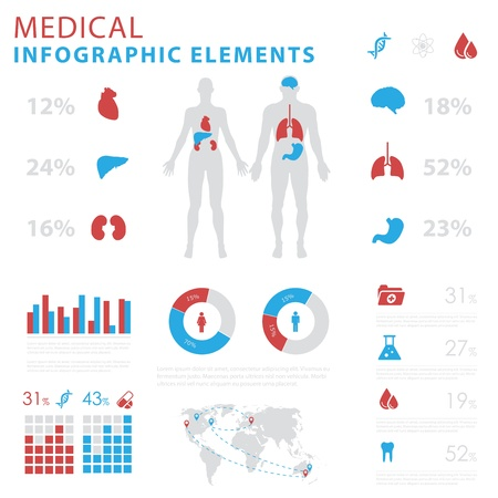 medical infographic elements Ilustrace