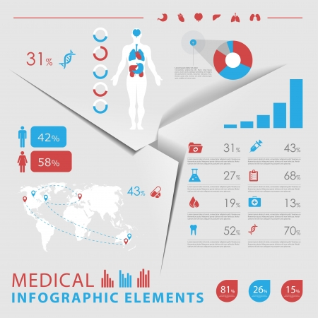 medical infographic elements Stock Vector - 18931036